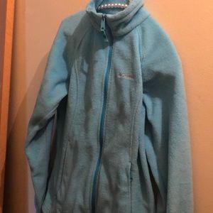 Woman's Columbia fleece Small/Sky Blue